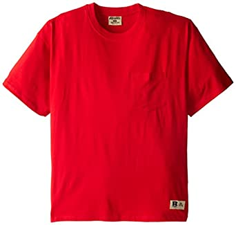 Russell athletic men 39 s big tall short sleeve one pocket for Big and tall athletic shirts