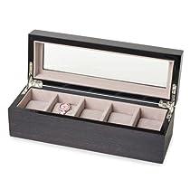 Apricot Veneer High Gloss Lacquer 5-watch Box