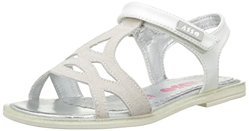 ASSO40740 - Sandali Bambina , Bianco (Bianco (White)), 31