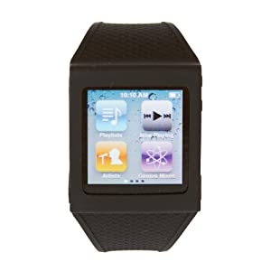 HEX HX1001-BLCK Watch Band for iPod Nano 6G - Black