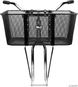 Wald 957 Front Mesh Bicycle Basket (21 x 15 x 9, Black)