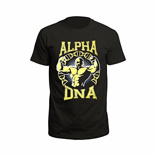 Bosshaft-Alpha-DNA-Gelb-T-Shirt-schwarz