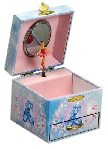 Musicboxworld 28054 Ballerina Jewellery Box with Drawer Playing the Melody