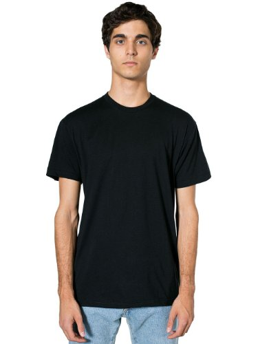 American Apparel  Poly-Cotton Short Sleeve Crew Neck, Black, Large Apparel