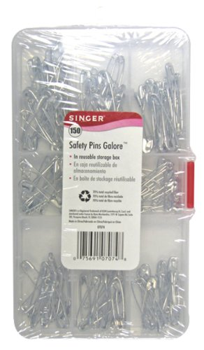 Singer Safety Pins Galore, Assorted Sizes, 150 Count