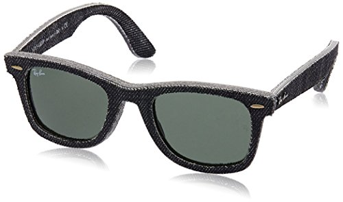 Ray-Ban 0RB2140 Square Sunglasses, Jeans Black, 50 mm