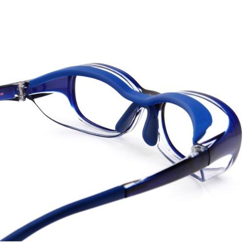【JINS 花粉Cut(R)】花粉最大98%カット! 異物からスタイリッシュに眼を守るメガネ KIDS向けスクエア(度なし)BLUE