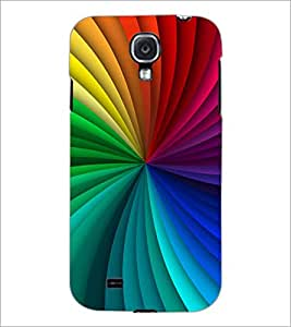 PrintDhaba Rainbow colors D-1460 Back Case Cover for SAMSUNG GALAXY MEGA 6.3 (Multi-Coloured)