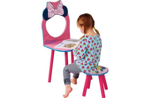 Minnie Mouse Dressing Table and Stool.