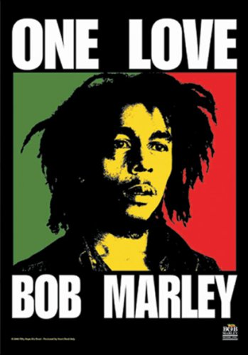 Bob Marley One Love Official Textile Poster Flag