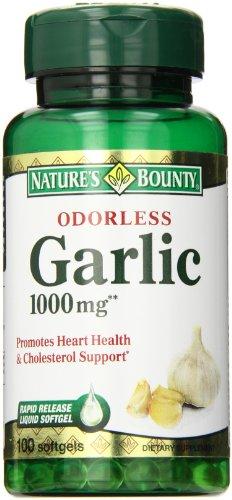 Nature's Bounty Odorless Garlic 1,000 mg Softgels, 100 ct