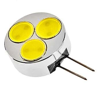 G4 3W 240-270LM 6000-6500K Natural White Light LED Spot Bulb (12V