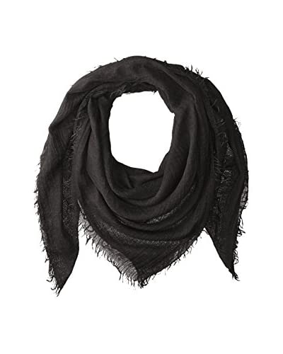 Michael Stars Women's Solid Scarf, Black As You See