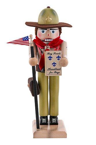 Tedesco di Natale Schiaccianoci Boy Scout - 40 centimetri / 16 pollici - Autentica Schiaccianoci Erzgebirge tedeschi - Steinbach