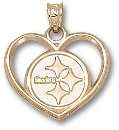 Gold Plated PITTSBURGH STEELERS LOGO HEART