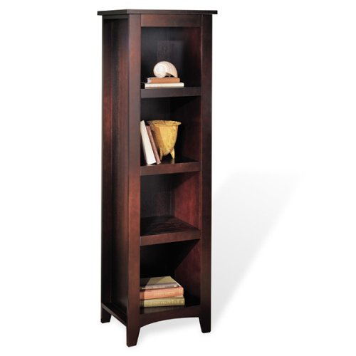 Dolce Dark Walnut 4-Shelf Bookcase