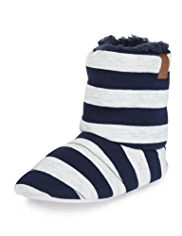 Striped Boot Slippers