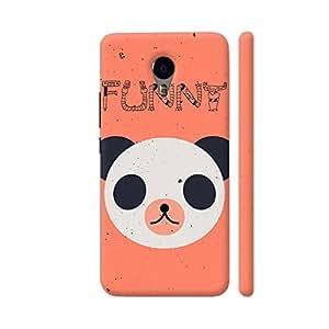 Colorpur Funny Panda On Orange Designer Mobile Phone Case Back Cover For YU Yunicorn   Artist: Designer Chennai