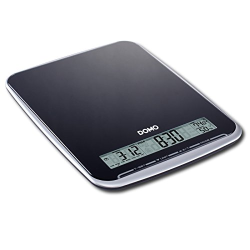 XL balance de cuisine multifonction très pratique-poids : 10 kg-avec surface en verre noir élégant & design-produit neuf vendu dans son emballage original