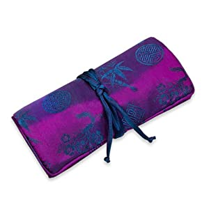 Jewelry Roll (Large) - Silk Jacquard