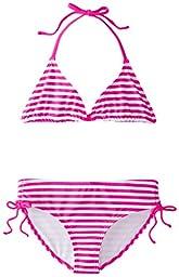 Kanu Surf Big Girls\' Bali Bikini Swimsuit, Pink, 8