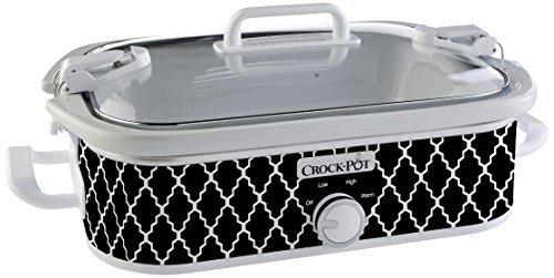 Crock-Pot 3.5-Quart Casserole Crock Manual Slow Cooker, Black and White, SCCPCCM350-BW by Crock-Pot (9 X 13 Casserole Crock Pot compare prices)