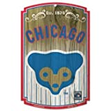 MLB Chicago Cubs 11-By-17-Inch Established Wood Sign