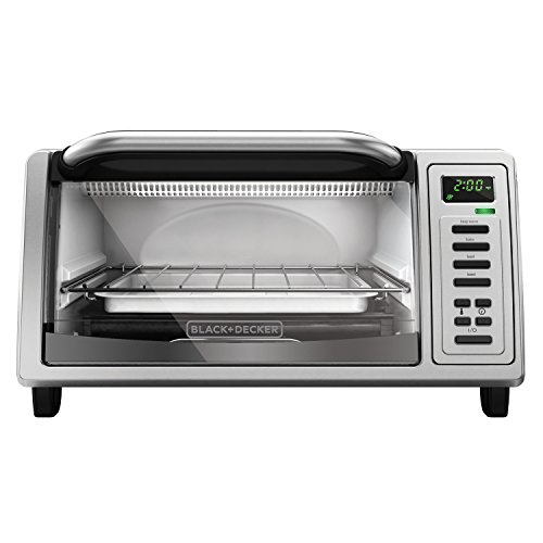 BLACK+DECKER TO1380SS 4-Slice Digital Toaster Oven, Stainless Steel (Toaster Oven With Toast Button compare prices)