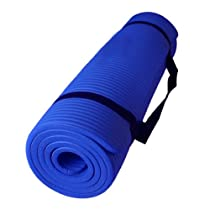 Premium 1/2 Inch Extra Thick Exercise, Yoga Mat High Density Durable Close-foam Tech. Exercise Yoga Mat Best Quality Eco Safe 72 Inches Long (Blue)