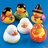 DOZEN (12) HALLOWEEN Rubber DUCK/DUCKIES/Ghost/PUMPKIN Etc. 2″ PARTY Decor Picture