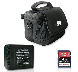 Photoprimus PACK économique: Etui Bilora 314 - Batterie Photoprimus CGA-S006 1200mAh - Carte mémoire 4GB SDHC Classe 6 (FZ8, FZ18, FZ28)