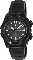 Seiko Superior Automatic Black Dial Black PVD Mens Watch SSA051