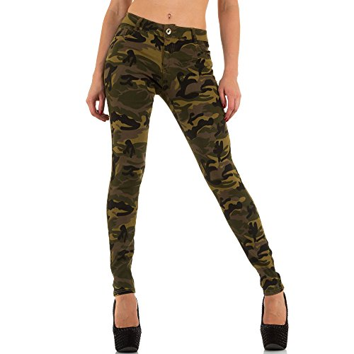 Ital-Design -  Jeans  - Donna verde W38
