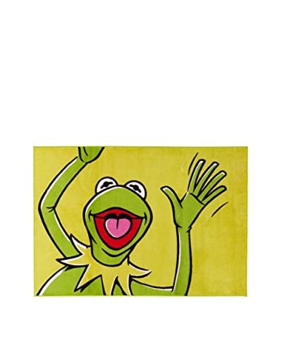 Disney Alfombra Disney Cl_ Kermit Verde 100 x 150 cm