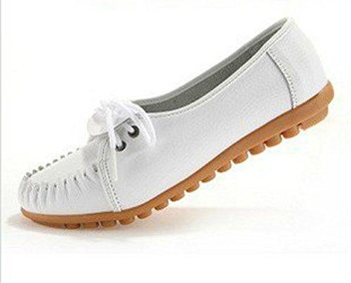 FTSUCQ Women's Duck Skimmer Portobello Moccasin Fulton Glitter Flat White Shoes,US 7 (Shape Up Shoe Polish compare prices)