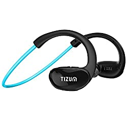 S-100 TRAINER Bluetooth V4.1 In-Ear Sports Headset with CVC 6.0-Noice Cancelling, IPX5-Sweatproof, HD Voice, 8-Hour Playtime, Built in Mic for Running, Sports, Handsfree Calling for Apple, Android, Microsoft Devices (Aqua Blue)