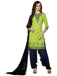Fabnil Graceful apple green georgette embroidered unstitched Salwar Kameez