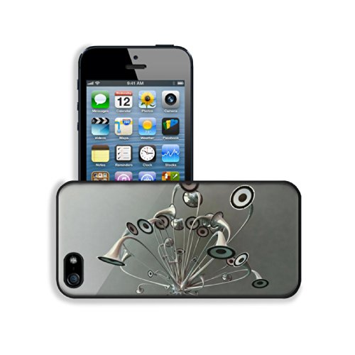 Variety Silver Metallic Speaker Design Apple Iphone 5 / 5S Snap Cover Premium Leather Design Back Plate Case Customized Made To Order Support Ready 5 Inch (126Mm) X 2 3/8 Inch (61Mm) X 3/8 Inch (10Mm) Luxlady Iphone_5 5S Professional Case Touch Accessorie