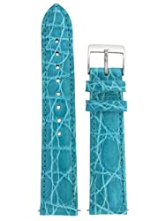 Watchband Genuine Crocodile 20mm Aqua