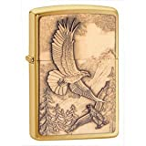 New Zippo Lighter Where Eagles Dare Emblem, Brushed Brass