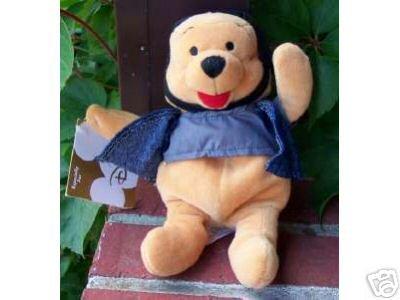"Disney Biker Winnie the Pooh 8"" Bean Bag - 1"