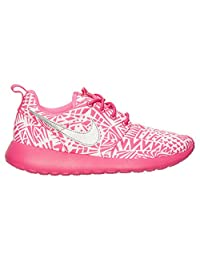 Girls' Grade School Nike Roshe Run Print 677784-100 (5Y)
