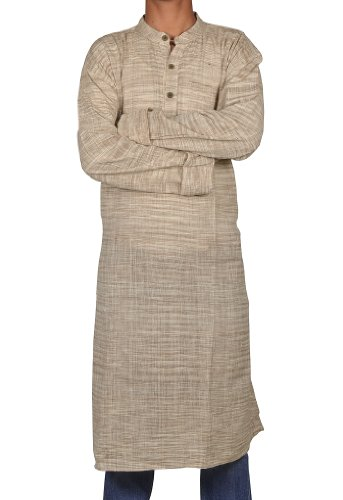 Traditional Casual Wear Indian Khadi Mens Long Kurta Fabric For Winter & Summers Size-7XL