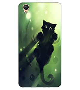 ColourCraft Cute Cat Design Back Case Cover for OPPO F1 PLUS