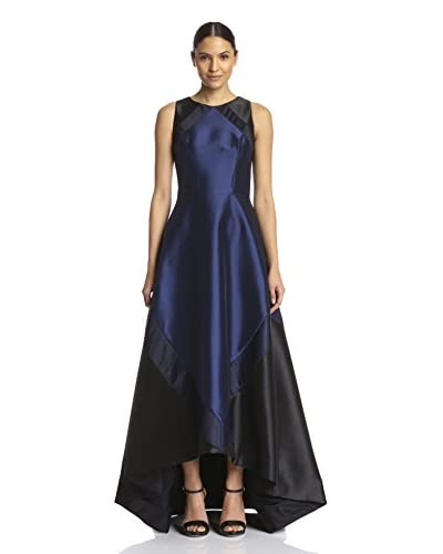 Theia Women's High-Low Colorblock Gown