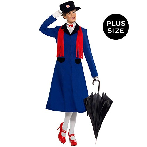 Halloween 2017 Disney Costumes Plus Size & Standard Women's Costume Characters - Women's Costume Characters Mary Poppins Plus Adult Costume - Plus Size - 1X