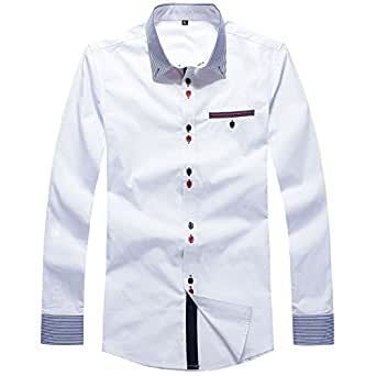 Related pictures camisa social casual camisa casual camisa for Tom s ware mens premium casual inner contrast dress shirt