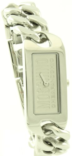 Moschino - MW0017 - Montre Femme - Quartz Analogique - Cadran Argent - Bracelet Métal Argent