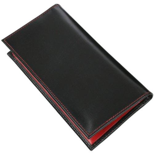 (ホワイトハウスコックス)Whitehouse Cox 【正規販売店】 S1109 長財布 ブラック・レッド