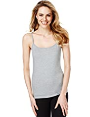 Fairtrade Cotton Rich Strappy Vest with Stay New™